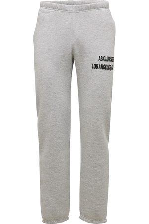 ASKYURSELF Men Sweatpants - Logo Print Cotton Jersey Sweatpants