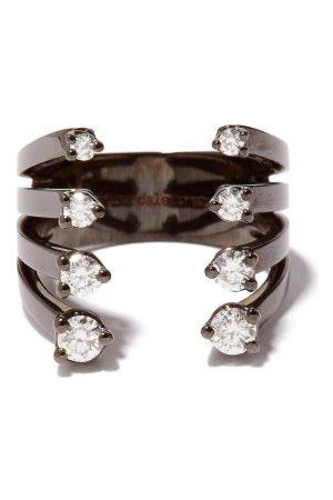 DELFINA DELETTREZ Dots Diamond & 18kt - Ring - Womens
