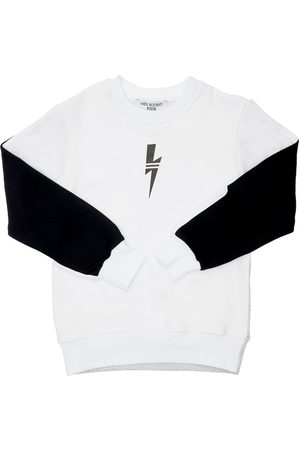 Neil Barrett Boys Sweatshirts - Color Block Cotton Sweatshirt