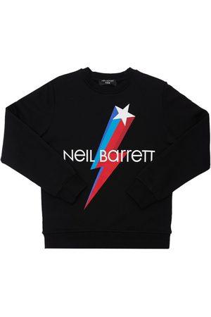 Neil Barrett Logo Print Cotton Sweatshirt