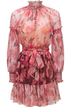 ZIMMERMANN Women Party Dresses - Silk Chiffon Mini Dress