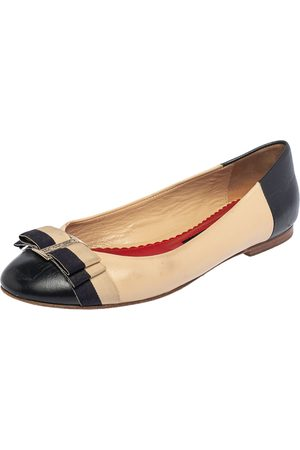 CH Carolina Herrera Leather Bow Ballet Flats Size 37