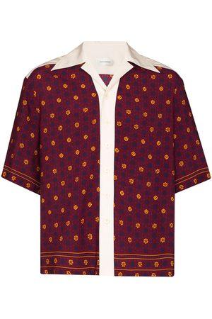 WALES BONNER Men Short sleeves - Madras short-sleeve Bowling shirt