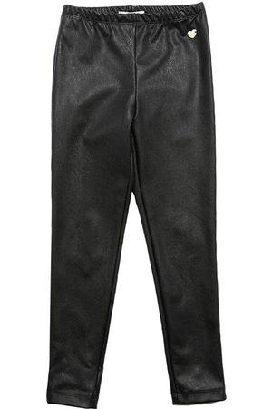 MONNALISA Girls Leggings - Faux Leather Leggings