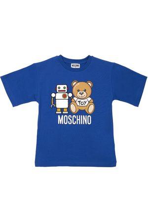 Moschino Robot Toy Print Cotton Jersey T-shirt