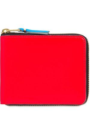 Comme des Garçons Super Fluo Leather Zip-around Wallet