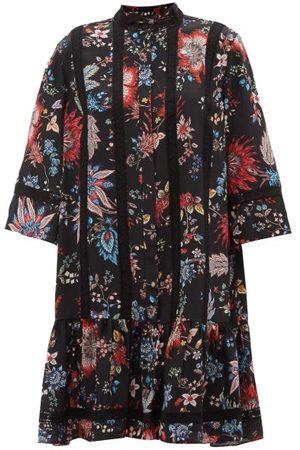 Erdem Women Printed Dresses - Bertram Hogarth-print Crepe De Chine Dress - Womens - Multi