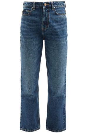 Ganni High-rise Cropped Flared Jeans - Womens - Mid Denim
