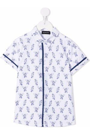 MONNALISA Boys Shirts - Donald Duck-print cotton shirt