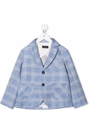 MONNALISA Checked linen-blend blazer