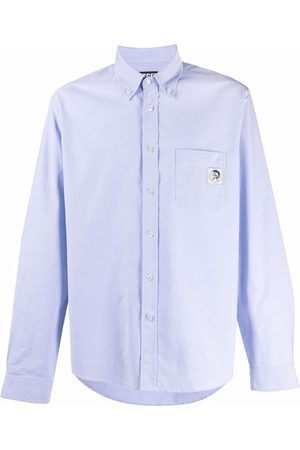 Diesel Men Long sleeves - Long-sleeved Oxford shirt