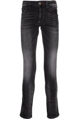 Philipp Plein Men Slim - Stonewashed slim-fit jeans - Grey