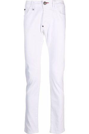 Philipp Plein Men Skinny - Logo-plaque skinny jeans