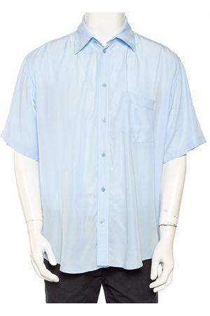 Balenciaga Light Lyocell Short Sleeve Oversized Shirt M