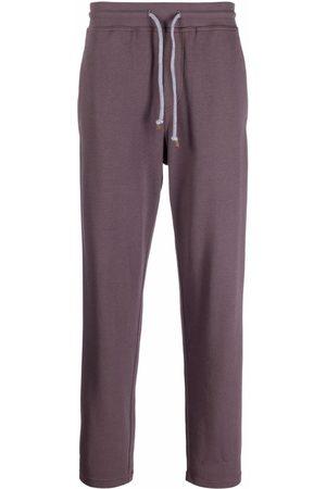 Brunello Cucinelli Men Sweatpants - Drawstring cotton track pants
