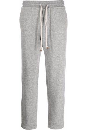 Brunello Cucinelli Men Sweatpants - Cashmere drawstring track pants - Grey