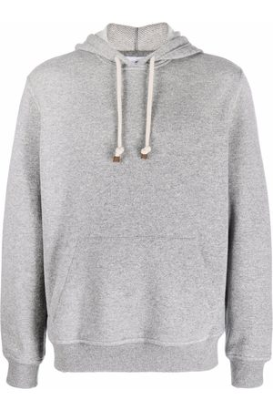 Brunello Cucinelli Men Long sleeves - Long-sleeve cashmere hoodie - Grey