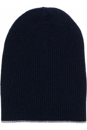 Brunello Cucinelli Men Beanies - Rib-knit cashmere beanie