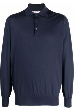 Brunello Cucinelli Men Polo Shirts - Knitted cashmere polo shirt