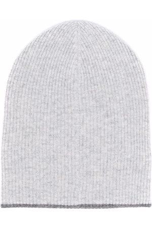 Brunello Cucinelli Rib-knit cashmere beanie - Grey