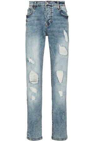 True Religion Men Slim - Distressed ripped slim-fit jeans
