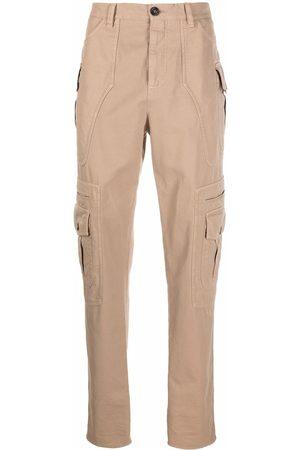 Brunello Cucinelli Men Cargo Pants - High-waisted cotton cargo trousers - Neutrals