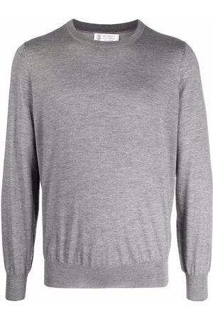 Brunello Cucinelli Long-sleeve cashmere jumper - Grey