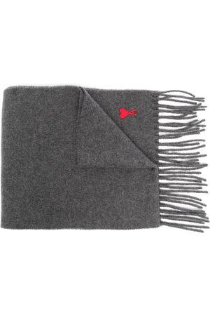 Ami Ami de Coeur wool scarf - Grey