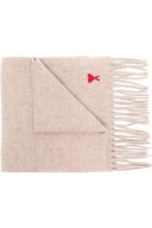 Ami Ami de Coeur wool scarf - Neutrals