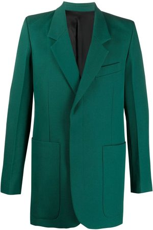 Ami Men Blazers - Hidden-buttoning tailored blazer