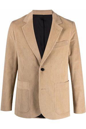 Ami Single-breasted corduroy blazer - Neutrals