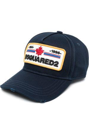 Dsquared2 Men Caps - Distressed-effect logo-patch baseball cap