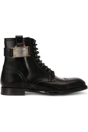 Dolce & Gabbana Men Ankle Boots - Logo-plaque ankle boots