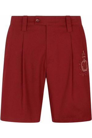Dolce & Gabbana Men Bermudas - Logo-patch Bermuda shorts