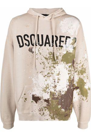 Dsquared2 Paint splatter-print hoodie - Neutrals