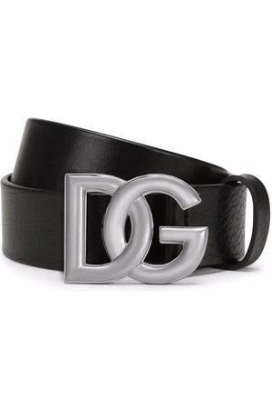 Dolce & Gabbana Men Belts - Calf leather logo-buckle belt
