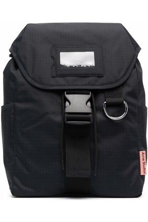 Acne Studios Grid-pattern buckled backpack