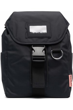 Acne Studios Rucksacks - Grid-pattern buckled backpack