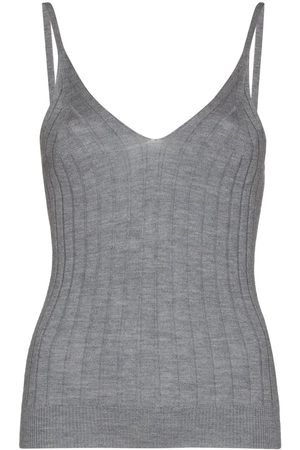 Lisa Yang Women Camisoles - Cleo ribbed-knit tank top - Grey