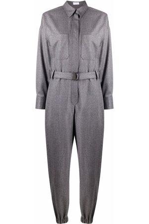 Brunello Cucinelli Virgin wool jumpsuit - Grey
