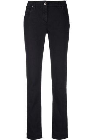 Brunello Cucinelli Women Straight Leg Pants - Rolled-edge straight-leg trousers