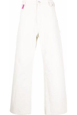 Acne Studios Men Straight - Straight-leg stonewashed jeans - Neutrals