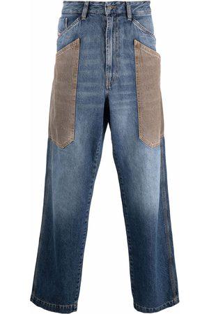 Diesel Men Straight - Patchwork straight-leg jeans