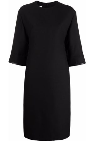 VALENTINO Women Pencil Dresses - Lambskin-panel pencil dress