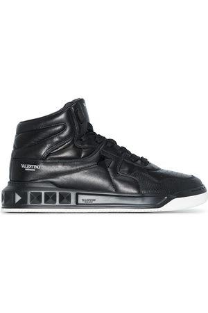 VALENTINO GARAVANI Men Sneakers - Logo-stamp hi-top sneakers