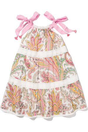 ZIMMERMANN Girls Halterneck Dresses - ZIM KIDS TEDDY HALTER TIE NK TIERED DRSS
