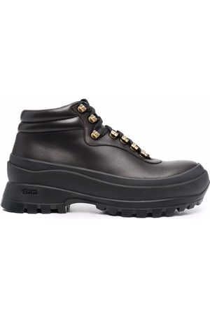 Jil Sander Leather trekking boots