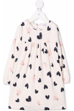 MONNALISA Heart-print midi dress