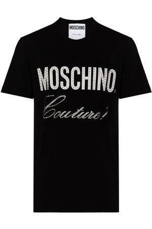 Moschino Men T-shirts - MOSCH LRG CHST LG SS TEE BLK