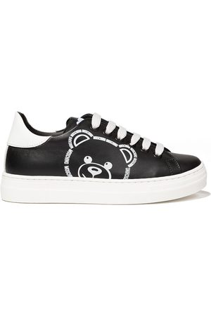 Moschino Boys Sneakers - Teddy logo low-top sneakers